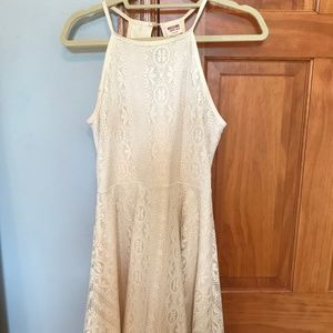 Mossimo Cream Lace Dress